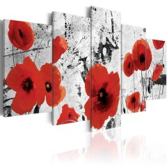 Artgeist Wandbild - Scarlet flowers