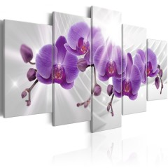 Artgeist Wandbild - Abstract Garden: Purple Orchis