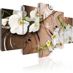 Artgeist Wandbild - Ivory orchids
