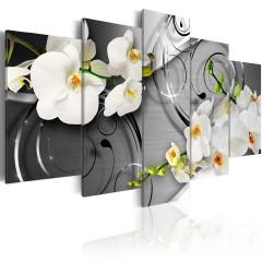 Artgeist Wandbild - Milky orchids