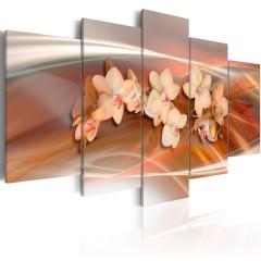 Artgeist Wandbild - Orchidee in warmen Grautönen