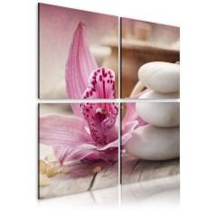 Artgeist Wandbild - Orchidee und Zen