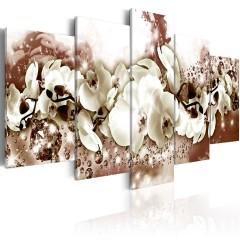 Artgeist Wandbild - Schokoladen Orchidee