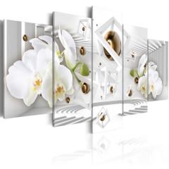 Artgeist Wandbild - Tempel der weißen Orchidee