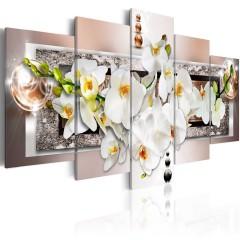 Artgeist Wandbild - White abstract orchid