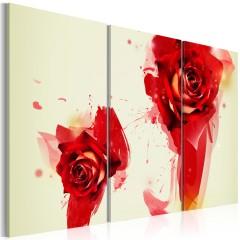 Artgeist Wandbild - Neue Sichtweise einer Rose