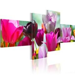 Artgeist Wandbild - Charme pinker Tulpen