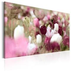 Artgeist Wandbild - Meadow of Tulips