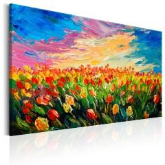 Artgeist Wandbild - Sea of Tulips