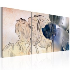 Artgeist Wandbild - Sketch of Tulips