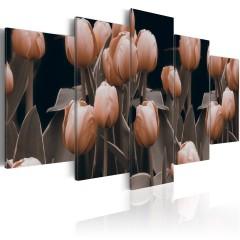 Artgeist Wandbild - Tulpen in Sepia