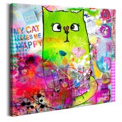 Artgeist Wandbild - Crazy Cat
