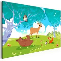 Artgeist Wandbild - Friendly Animals (1 Part) Wide