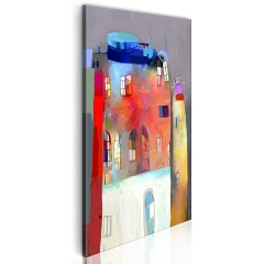Artgeist Wandbild - Regenbogenfarbenes Haus