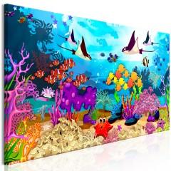Artgeist Wandbild - Underwater Fun (1 Part) Narrow