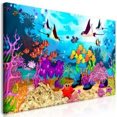 Artgeist Wandbild - Underwater Fun (1 Part) Wide