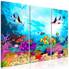 Artgeist Wandbild - Underwater Fun (3 Parts)