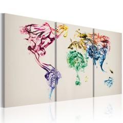 Artgeist Wandbild - Abstrakte Weltkarte