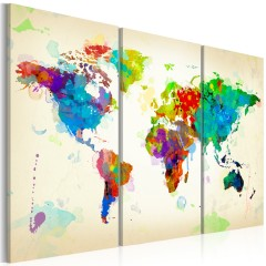 Artgeist Wandbild - All colors of the World - triptych