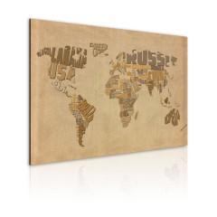 Artgeist Wandbild - Alte Weltkarte
