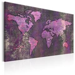 Artgeist Wandbild - Amethyst Map