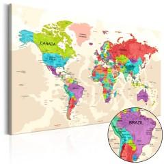 Artgeist Wandbild - Colourful Land