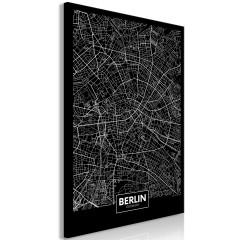 Artgeist Wandbild - Dark Map of Berlin (1 Part) Vertical