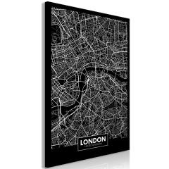 Artgeist Wandbild - Dark Map of London (1 Part) Vertical
