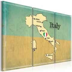 Artgeist Wandbild - Das Herz Italiens - Triptychon