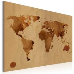 Artgeist Wandbild - Die Welt gemalt mit Kaffee