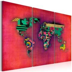 Artgeist Wandbild - Die Welt ist mein - Triptychon