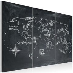 Artgeist Wandbild - Erdkundeunterricht (in italienischer Sprache) - Triptychon