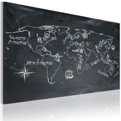 Artgeist Wandbild - Erdkundeunterricht (in tschechischer Sprache)