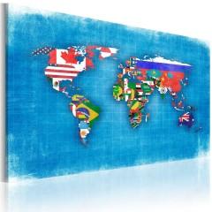 Artgeist Wandbild - Fahnen der Welt