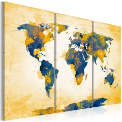 Artgeist Wandbild - Four corners of the World - triptych