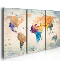 Artgeist Wandbild - Free as a bird - triptych