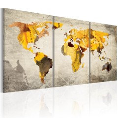Artgeist Wandbild - Gelbe Kontinente