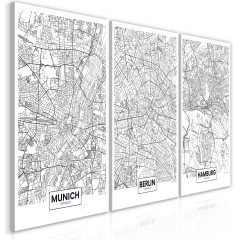 Artgeist Wandbild - German Metropolises (Collection)