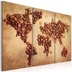 Artgeist Wandbild - Kaffee aus der ganzen Welt - Triptychon