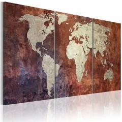 Artgeist Wandbild - Kontinente aus Stahl