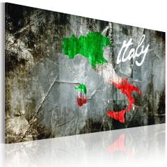 Artgeist Wandbild - Künstlerische Karte von Italien