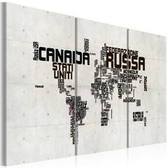Artgeist Wandbild - Landkarte - italienisch