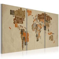 Artgeist Wandbild - Landkarte der Abenteuer