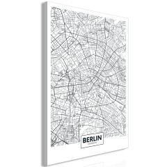 Artgeist Wandbild - Map of Berlin (1 Part) Vertical