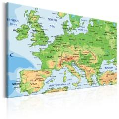 Artgeist Wandbild - Map of Europe