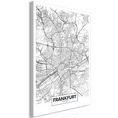 Artgeist Wandbild - Map of Frankfurt (1 Part) Vertical
