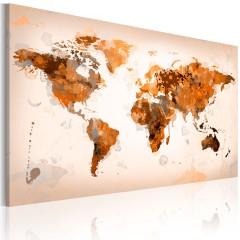 Artgeist Wandbild - Map of the World - Desert storm
