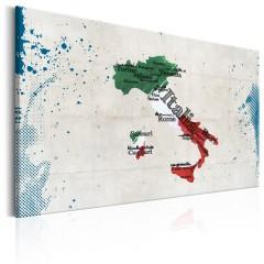 Artgeist Wandbild - Map: Italy