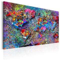 Artgeist Wandbild - Map: Jackson Pollock inspiration