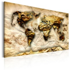 Artgeist Wandbild - Map: Leonardo da Vinci inspiration